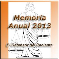 Memoria 2013 El Defensor del Paciente